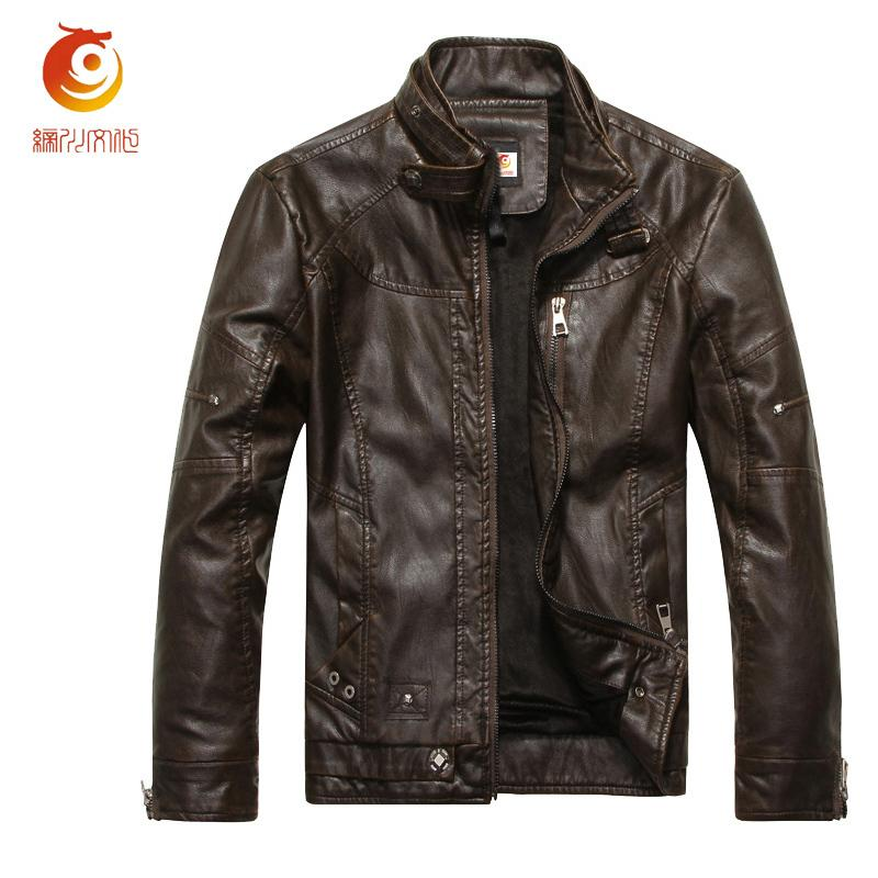 Spring Motorcycle Leather Jackets Men 2017 Autumn Faux Leather ...