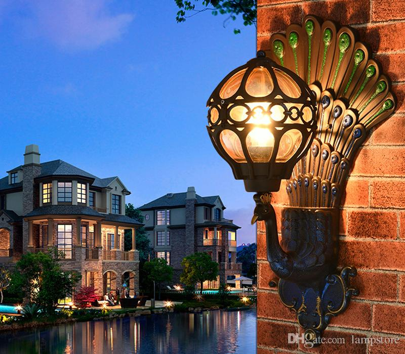 Outdoor Wall Lamps Exterior Lantern Lamp Antique Vintage Creative ...