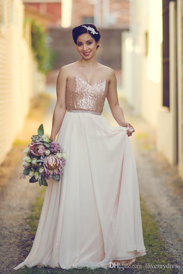 Fashion sparkly cheap maid of honor dress a line for Made of honor wedding dress