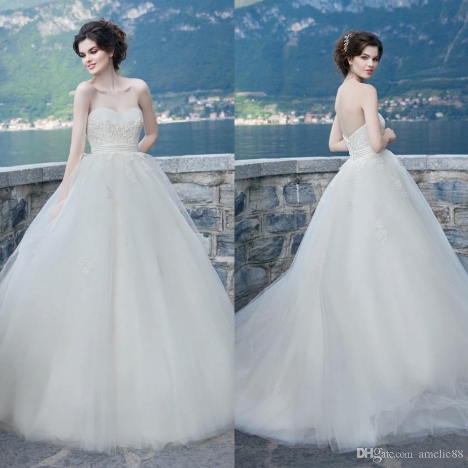 Catalog 2017 beach wedding dresses lace applique for Free wedding dress catalog
