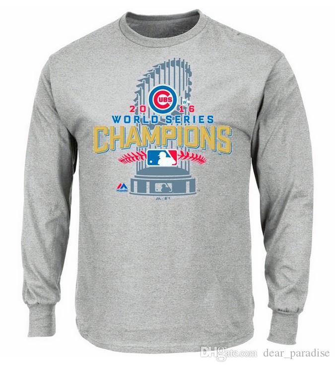 2017 World Series Champions Chicago Cubs Majestic Hommes à manches longues impri