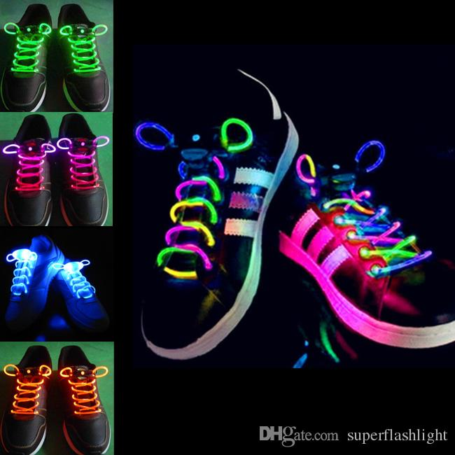 LED Chaussures Chaussures Chaussures Flash Light Up Glow Stick Strap Shoelaces D