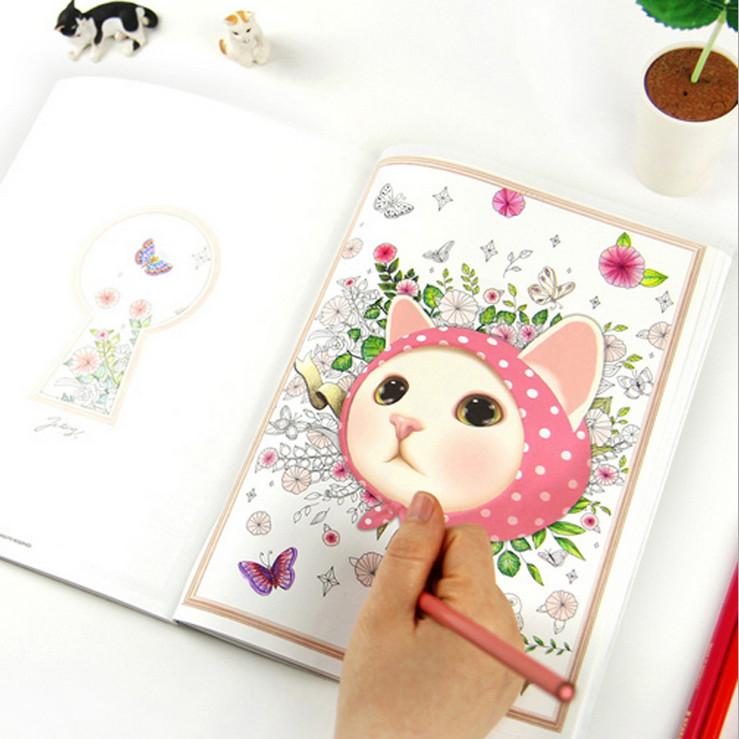 Wholesale Newest 80Pages Korea Style 25cm Secret Garden Coloring Book Drawing Toys Mandala Educational Kids PS033 Toy