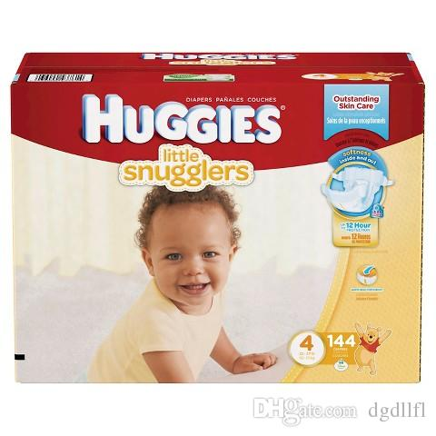 2017 2 Box 288 Count Huggies Little Snugglers Size 4 Baby Diapers ...