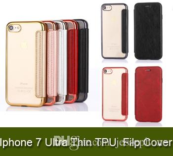 Ultra Thin TPU Drop Resistant Filp Cover Card Slots Wallet Case iPhone 7 6 6s Plus OPP Bags