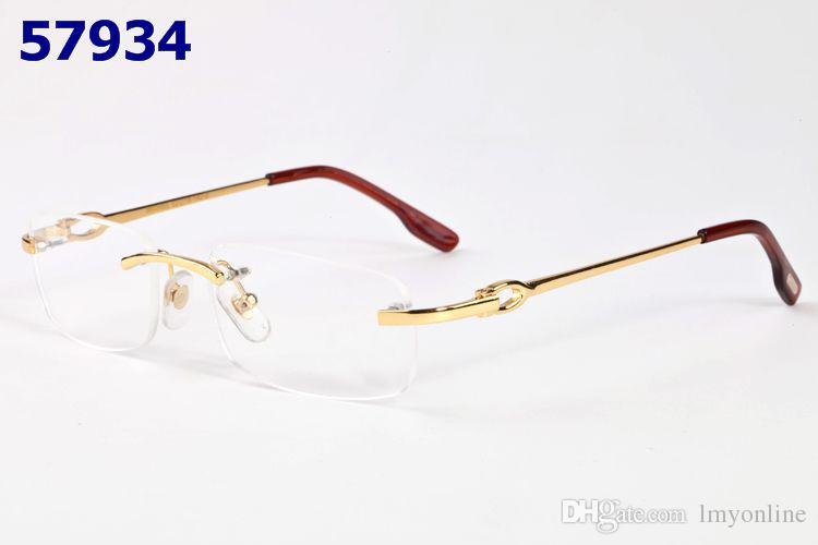 Rimless Eyeglass Frames Problems : 2017 Luxury Metal Optical Glasses Frame For Men Women ...