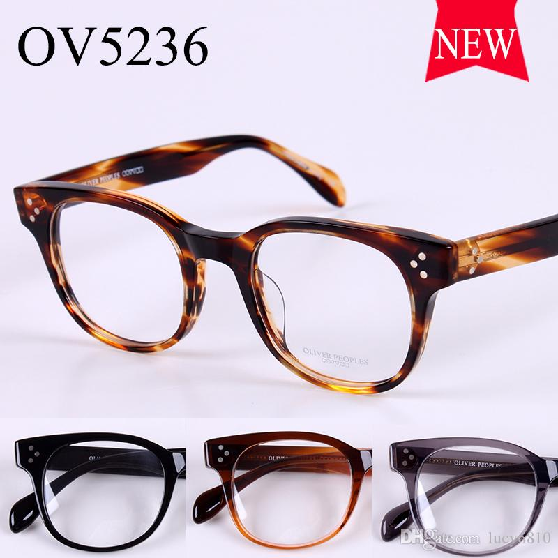 new design sunglasses  2017 New Design Vintage Optical Unisex Wide Glasses Frame Oliver ...