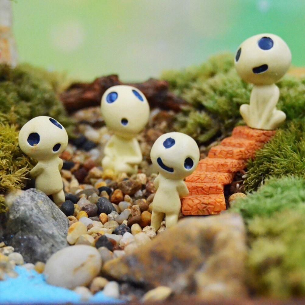 Miniature ornaments - Resin Mini Alien Tree Fairy Hayao Miyazaki Totoro Model Figures Micro Landscape Garden Terrarium Decoration Miniature