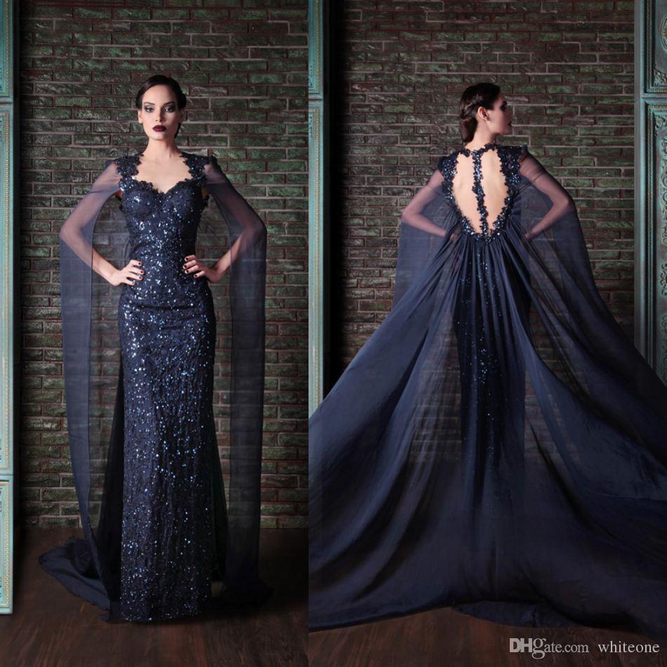 Rami Kadi Sequined Evening Dresses Dubai Arabic Saudi Arabian Womens Ladies Special Occasions Cheap Custom Made 2016 Backless Vestidos