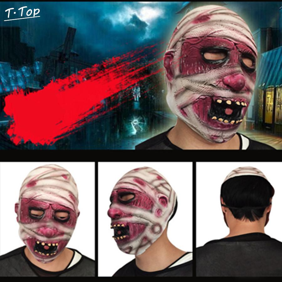 2017 Wholesale Halloween Mask Funny Scared Mummy Zombie Full ...