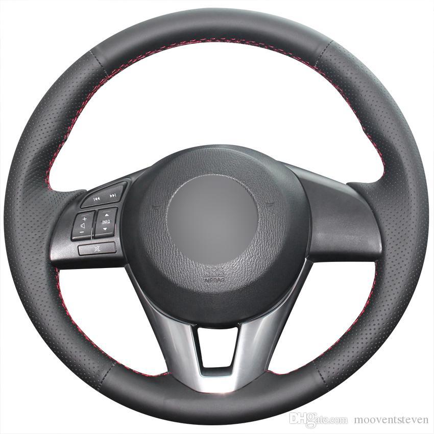 Xuji Black Genuine Leather Car Steering Wheel