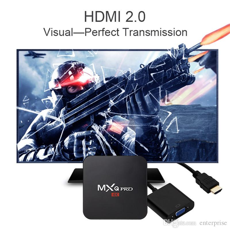 Factory Vente MXQ Pro 4K Android 6.0 TV Box RK3229 Quad Core 1GB 8GB Set Top Box