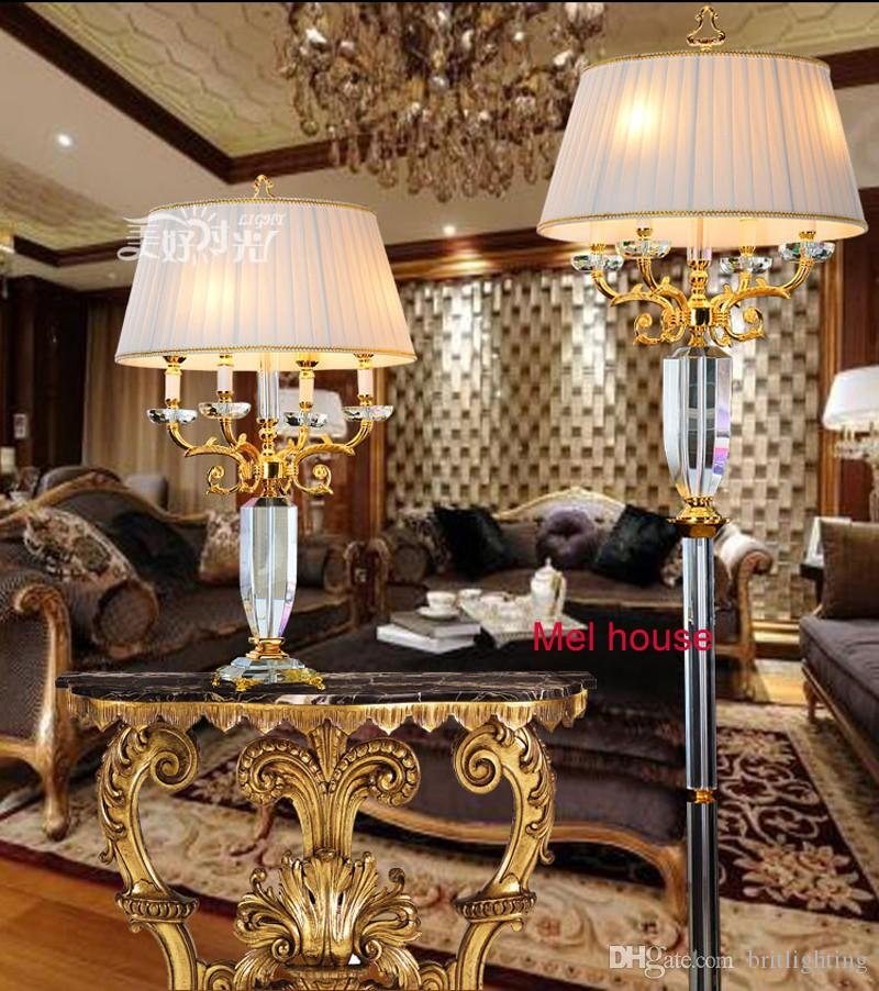 2017 Luxury Crystal Floor Lamp For Living Room Decorative