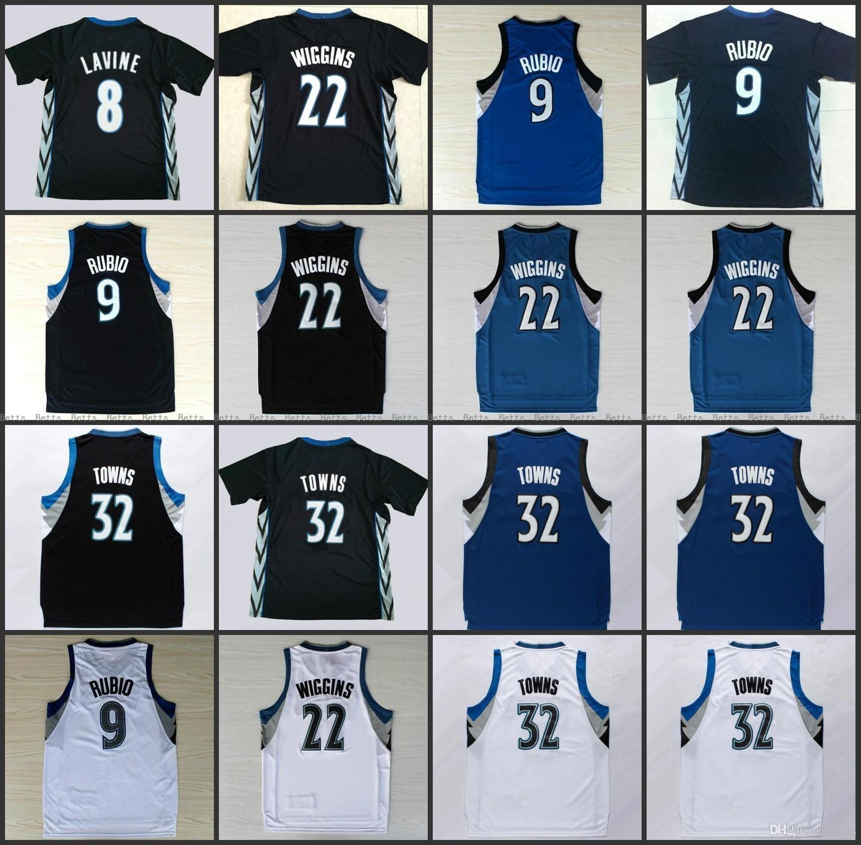 New 32 Karl-Anthony Karl Anthony Villes Jersey 9 Ricky Rubio 22 Andrew Wiggins 8