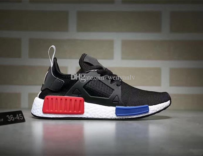 adidas NMD XR1 Primeknit 'Glitch' White Black Orange For Sale