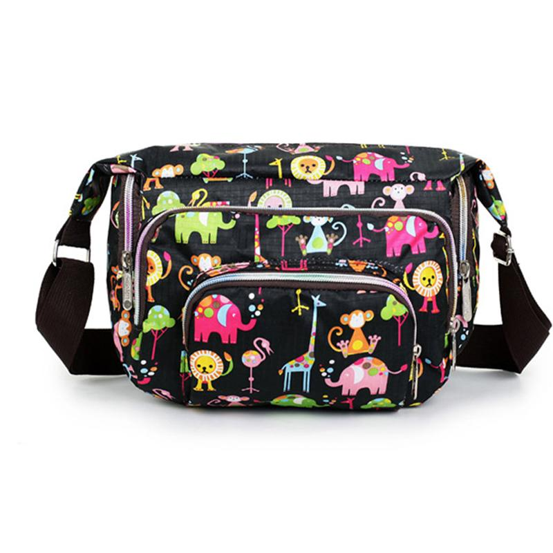 Wholesale Print Floral Women Messenger Bags Crossbody Shoulder Canvas Hobo Bag Nylon Oxford ...