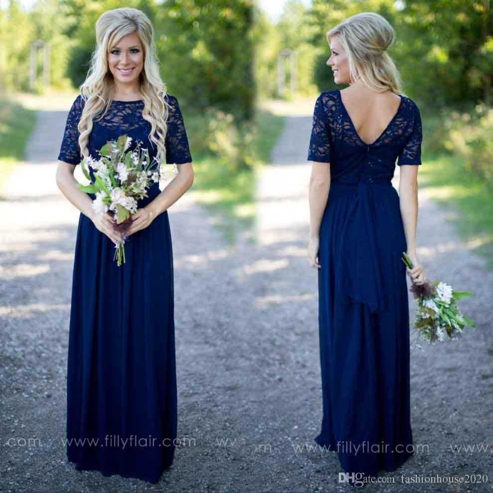 Cheap chiffon country bridesmaid dresses 2017 sheer illusion lace cheap chiffon country bridesmaid dresses 2017 sheer illusion lace short sleeve royal blue bridesmaid dress long sequined maid honor gowns bridesmaid dresses ombrellifo Gallery
