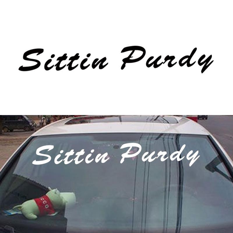 Sittin Purdy Windshield Banner Car Styling Sticker Truck Decal - Car window decal stickers online