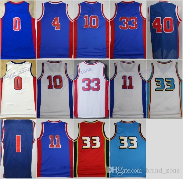 Discount 11 Isiah Thomas Jerseys Throwback Basketball 10 Dennis Rodman 40  Bill Laimbeer Jersey 33 Grant . 0d348f7ed