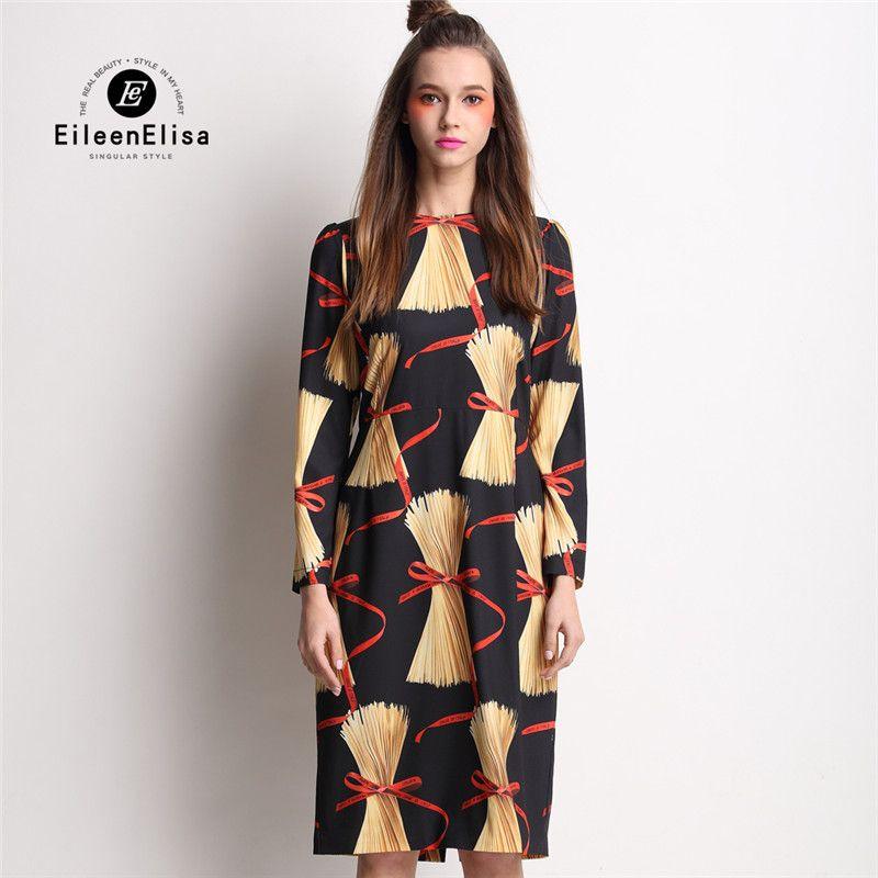 runway luxury dress 2017 spring fashion designer printed long dress