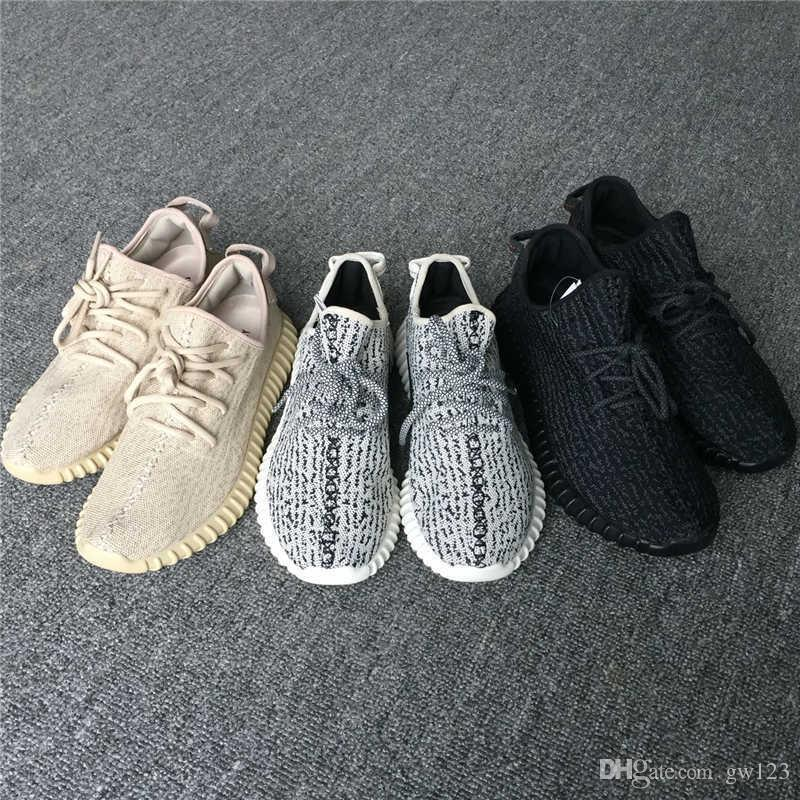 Yezzy 350 Boost V1 Kanye West Chaussures de course Low Cut Originals Pirate Noir