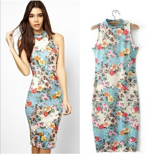 New Flowers Of Spring Party Dresses Summer Women'S Floral Folk ...