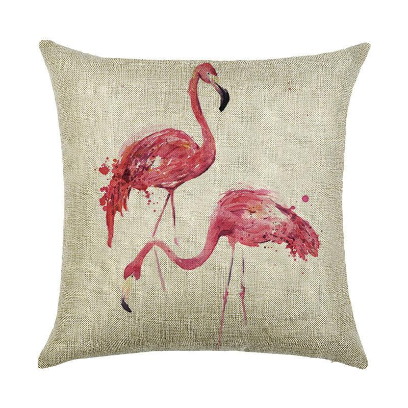 Linen Cutton The Red Crowned Crane Pillow Cover Case Vintage Style Cushion Case Cover For Throw ...