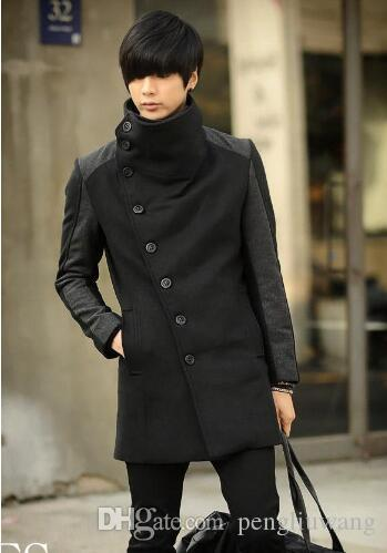 Cheap Winter Coats for Men's 2017 Cashmere Clothing Wool Trench ...