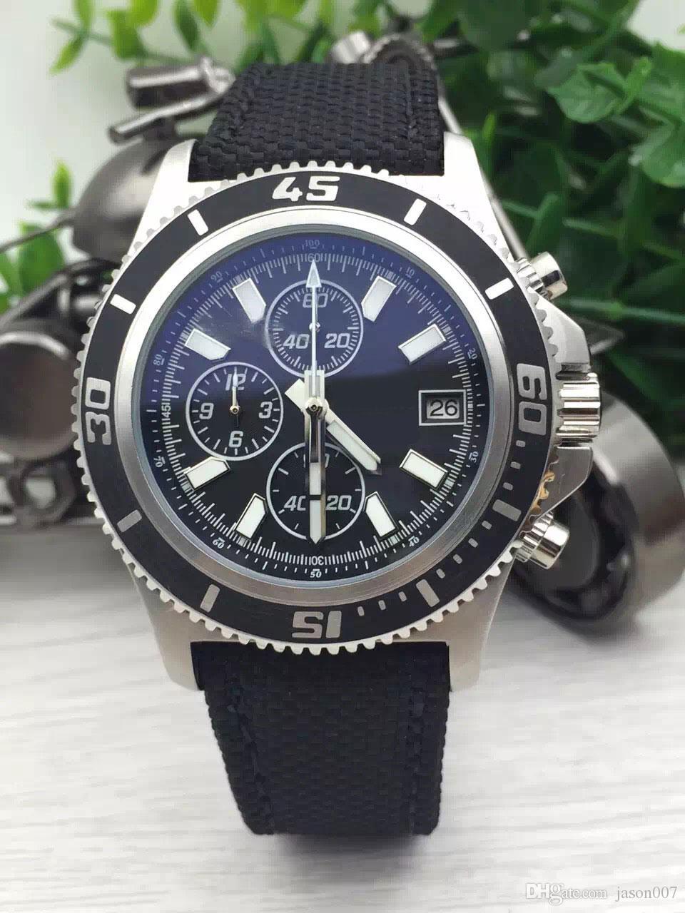 Wrist watches brands for mens - Dhgate Top Seller Brand Watches Men Superocean Ii Heritage 46 Watch Nylon Belt Watch Quartz Chronograph
