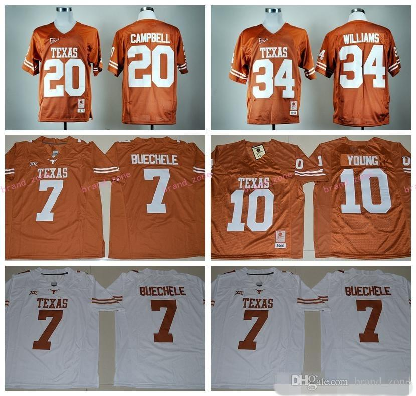 2017 Texas Longhorns 7 Shane Buechele Jersey Unifroms 34 Ricky Williams 20 Earl