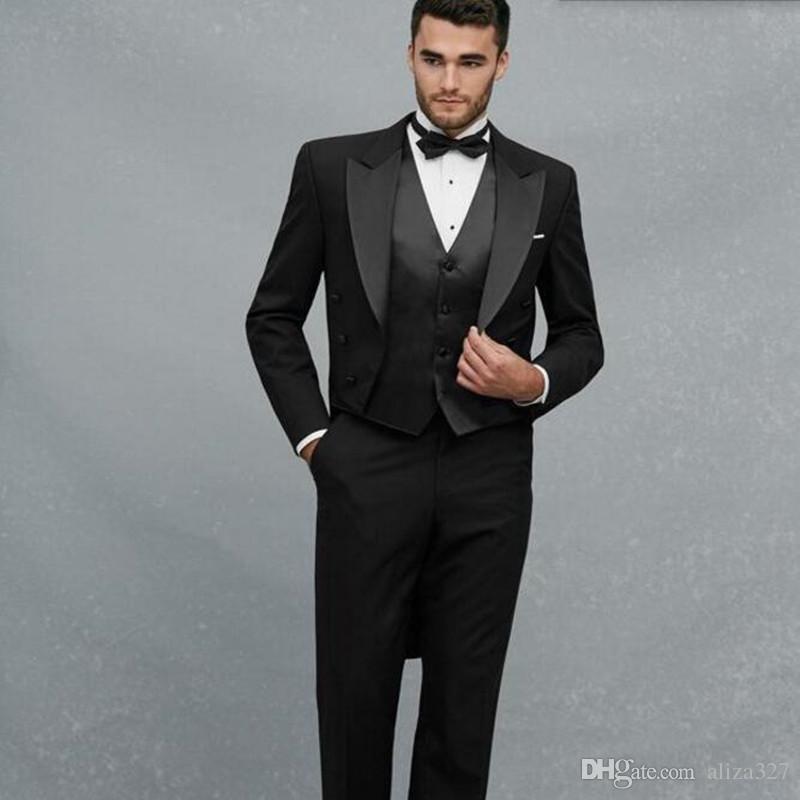 2018 haute couture men suits black men wedding suits for Haute couture men