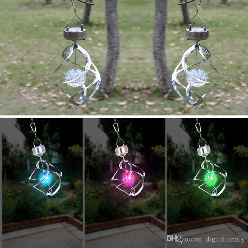 Online Cheap Hot Color Changing Solar Powered Led Wind