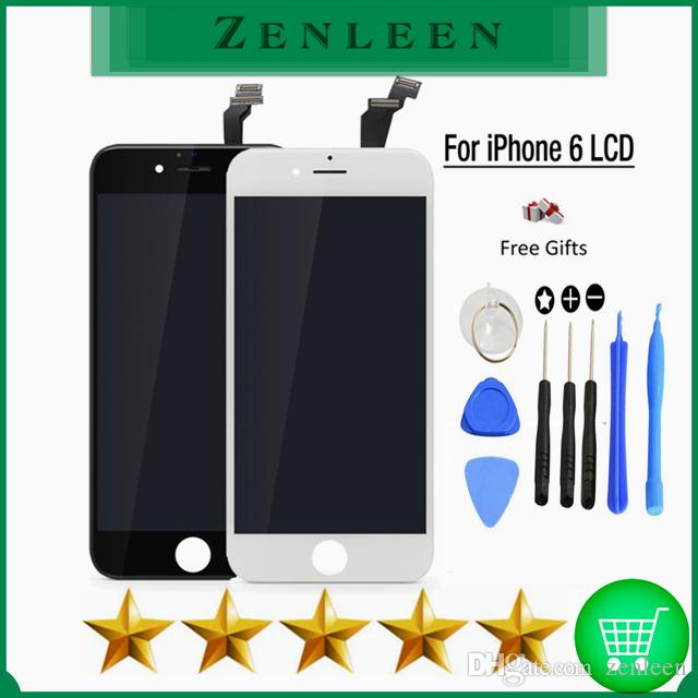 10PCS / LOT Grade A +++ pour IPhone 6 LCD Screen Replacement Digitizer Touch Dis