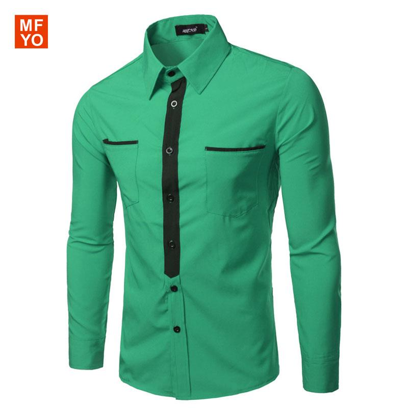 2017 Wholesale 2016 Casual Shirts Dress Male Mens Clothing