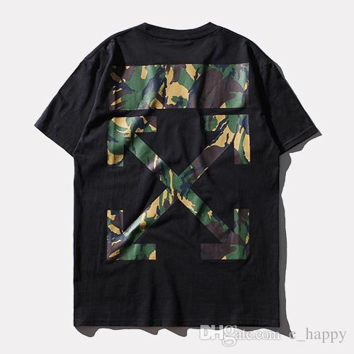 2017 Off-White Camo Arrows T-Shirt Men Black White Short Sleeve ...