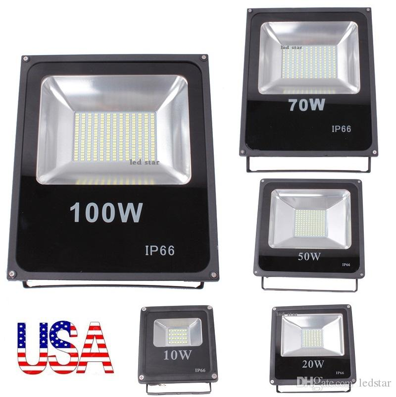 Stock IN US + 10W 20W 30W 50W 100W Outdoor Led Floodlights Imperméable IP65 Led