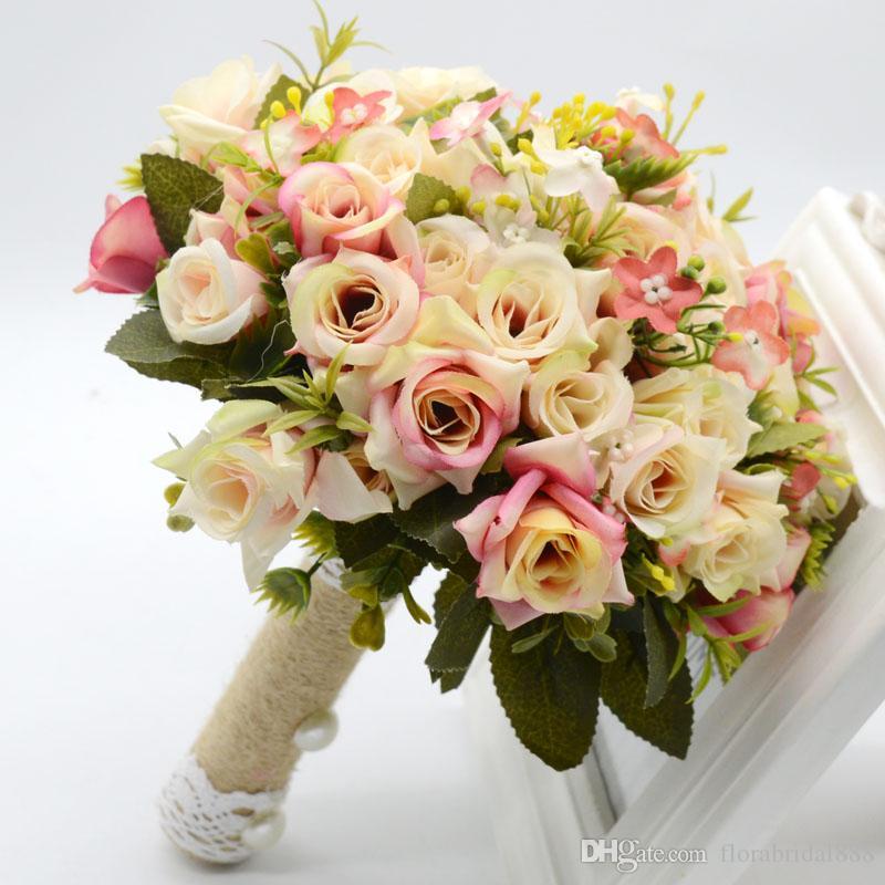 Cost Of Wedding Flowers 2017 : Cheap wedding bouquet de mariage handmade