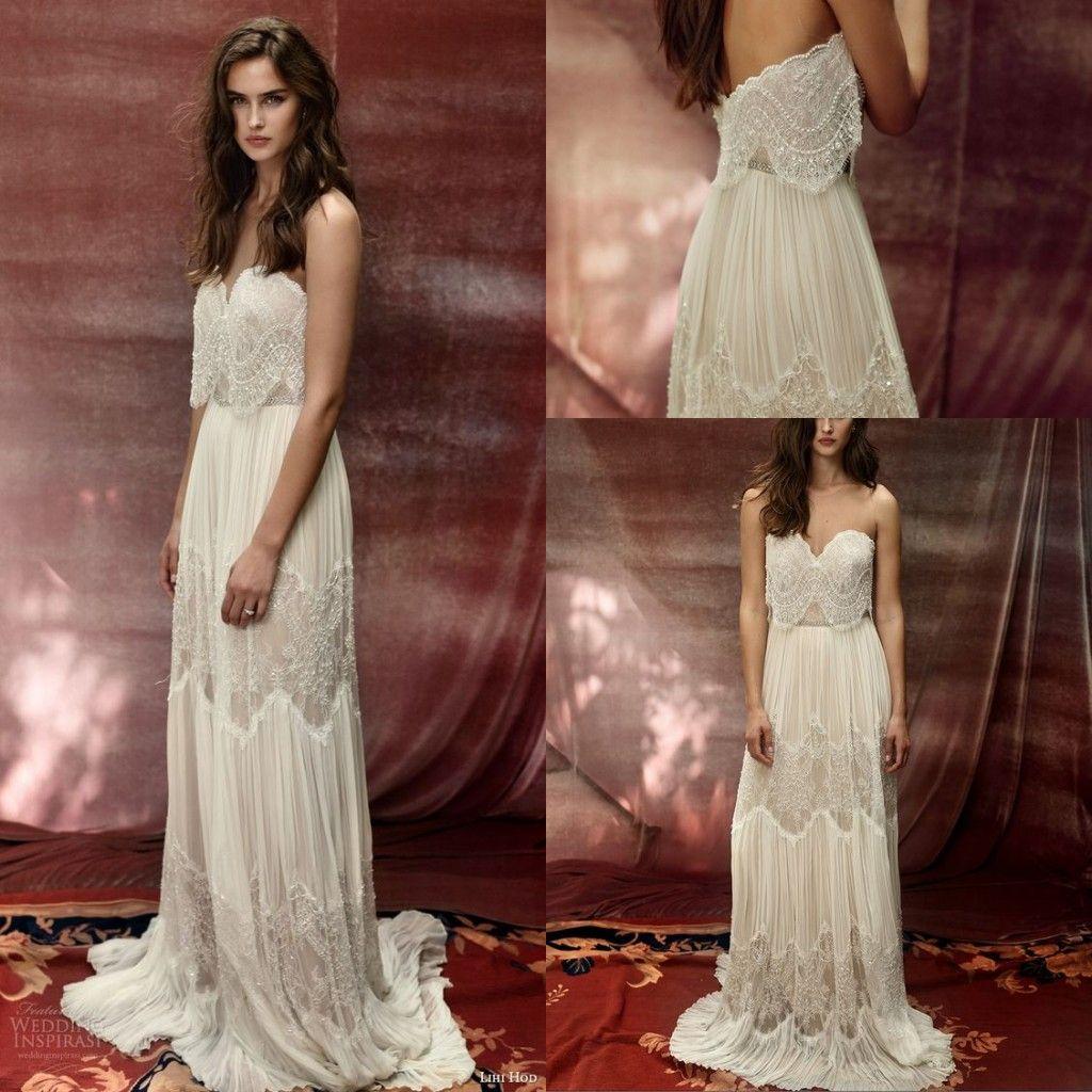 Sexy 2017 lihi hod wedding dresses a line sweetheart for Lihi hod wedding dress for sale