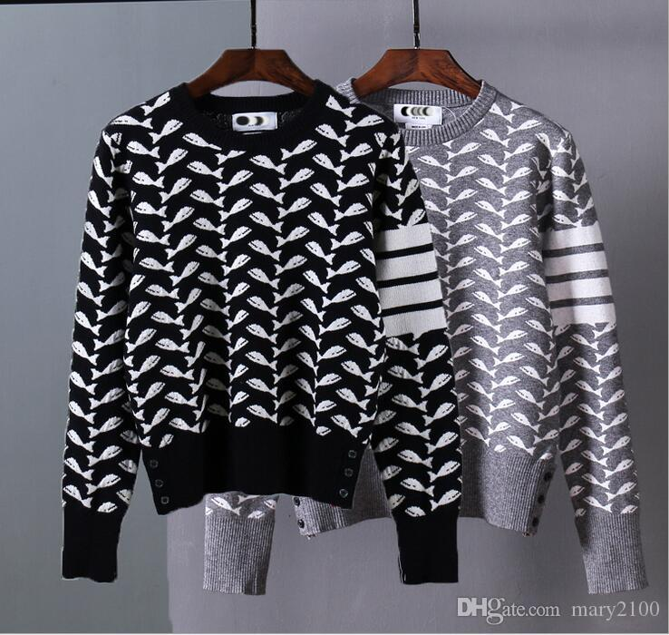 New High Quality Mile Wile TB Brand Men's Twist Sweater Knit ...