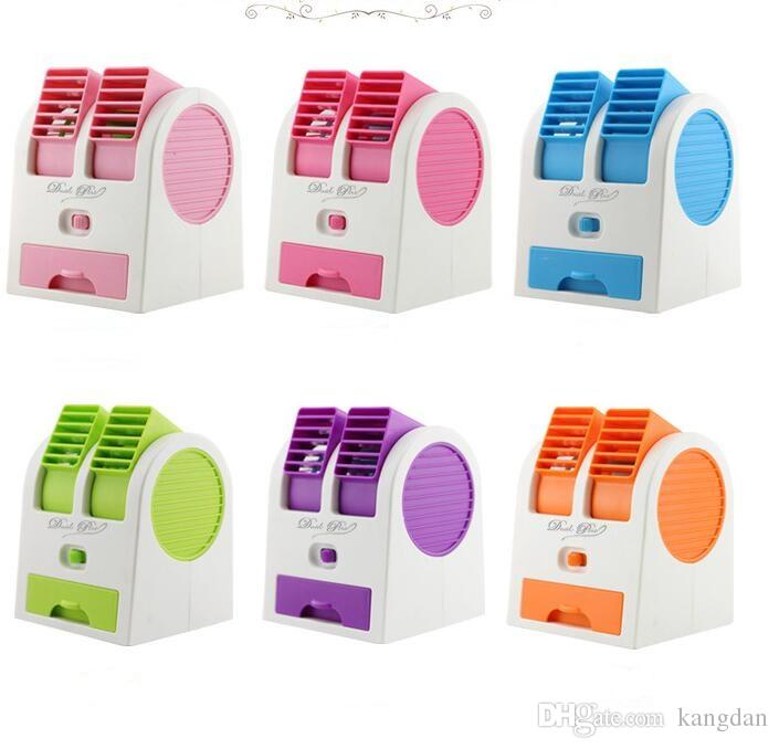 fan battery. Portable Mini USB Battery Fan Outdoor Traving Small Air Cooling Fans Home Appliances Cool With Two Outlet Conditioning