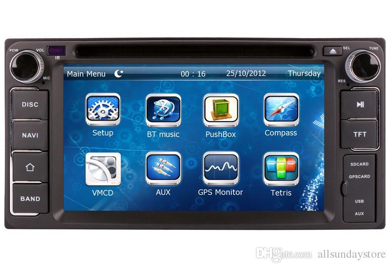 2 din car dvd player gps navigation for toyota corolla