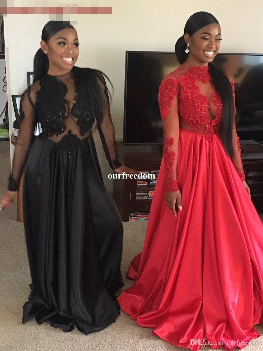 cheap 2017 sexy blackred african black girl prom dresses