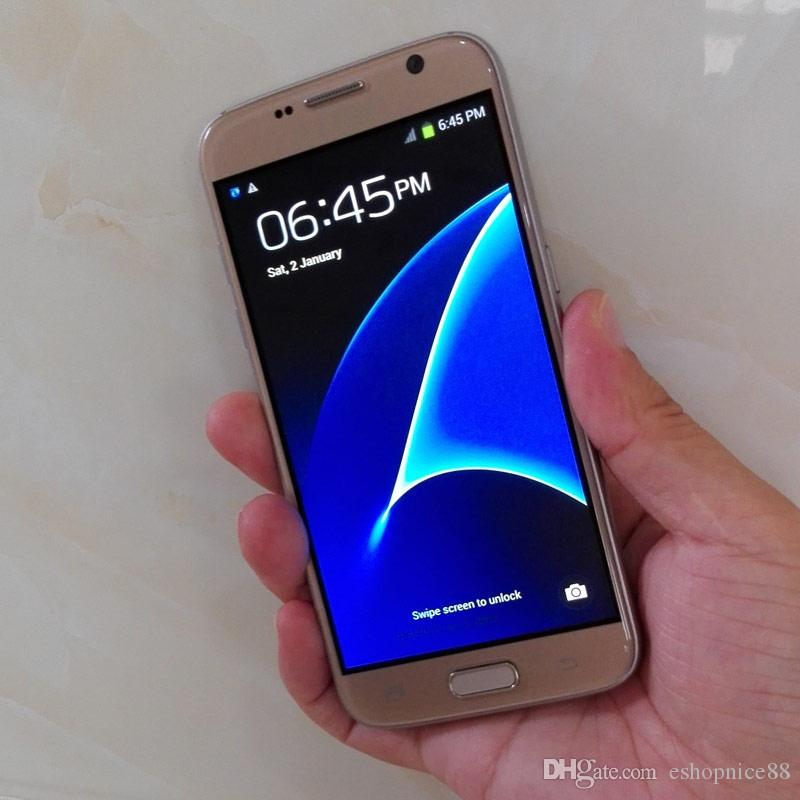 Cheap Goophone S7 & Edge Dual Sim Cellphone 5.1 inch Android 6.0 Show Fake 3GB RAM 64GB ROM 4G Lte 64bit Octa Core Unlocked Mobile phones