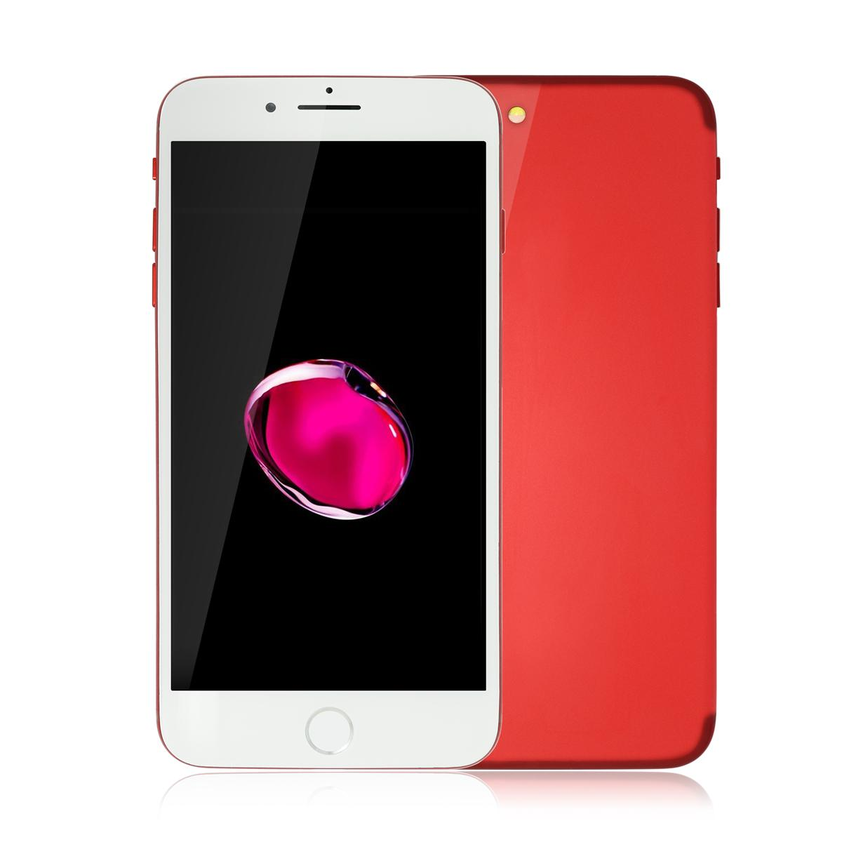 Red Goophone i7 Plus V3 1: 1 Clone Touch ID 3G WCDMA Quad Core MTK6580 1 Go 8 Go