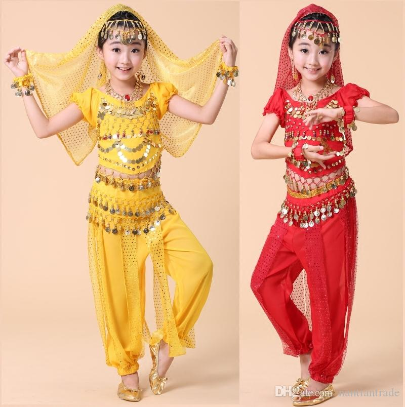 2017 /Professional India Dance Children Belly Dance Costumes For ...