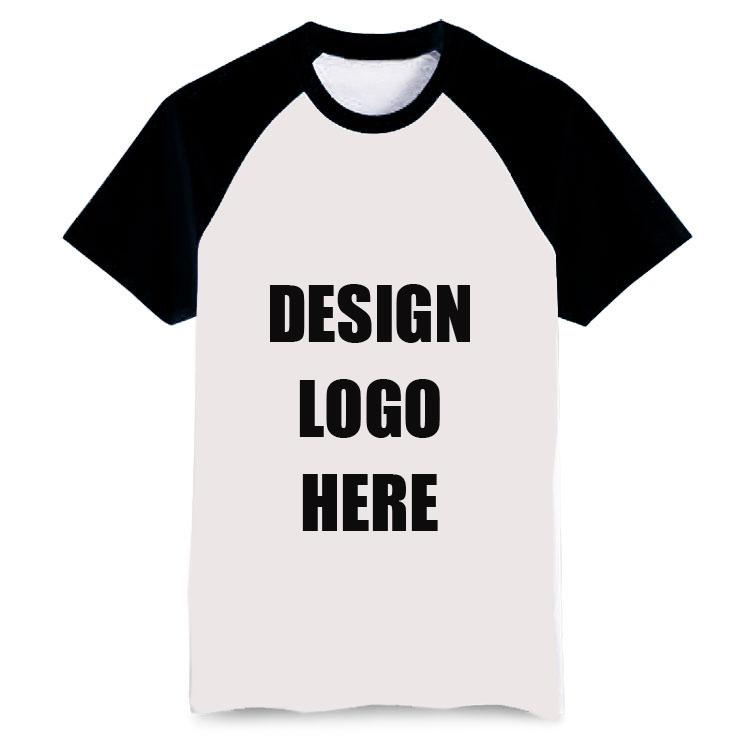 Wholesale diy your own logo print plain tshirt embroidery for Bulk t shirts with logo