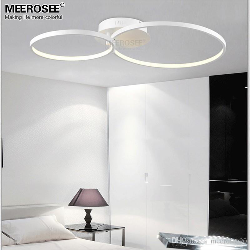 New LED Ceiling Light Flush Mounted White Acrylic Lamp For Dining Room Lamparas De Techo Home Decor Lighting