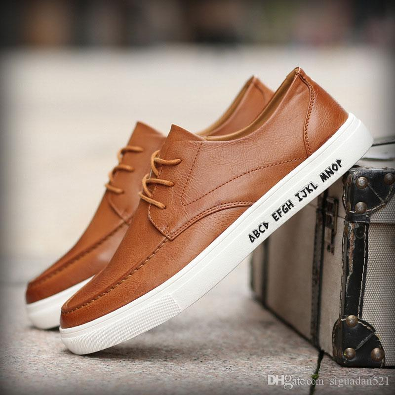 New Business Casual Menu0026#39;S Shoes Summer Wind Of England Youth Tide Shoes Breathable Leather Shoes ...