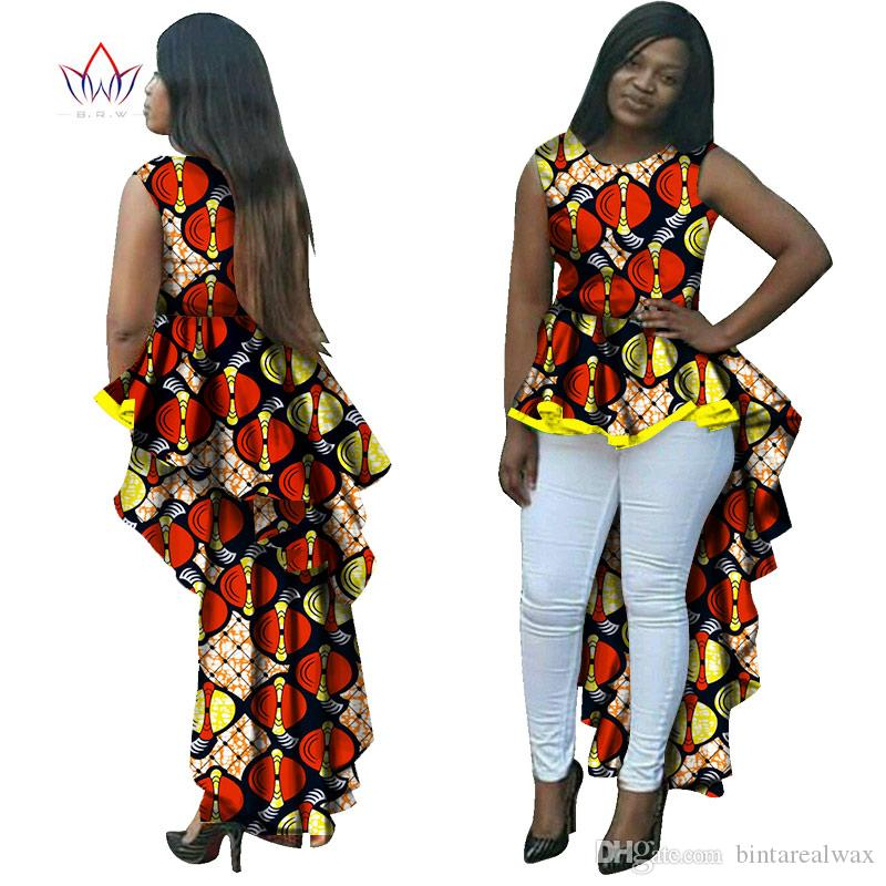 BRW Dashiki African Wax Print Long Dresses for Women Plus Size ...