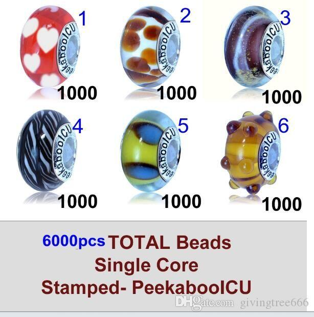 DHLFREE 6000pcs PeekabooICU perles uniques pour notre achat majoty Murano Glass